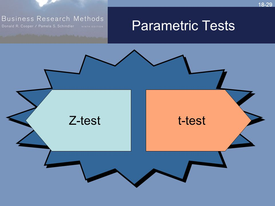 18-29 Parametric Tests t-testZ-test