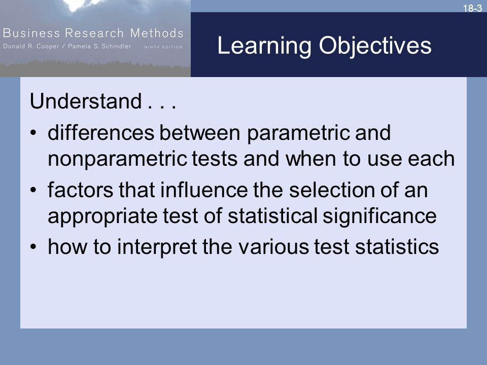 18-3 Learning Objectives Understand...