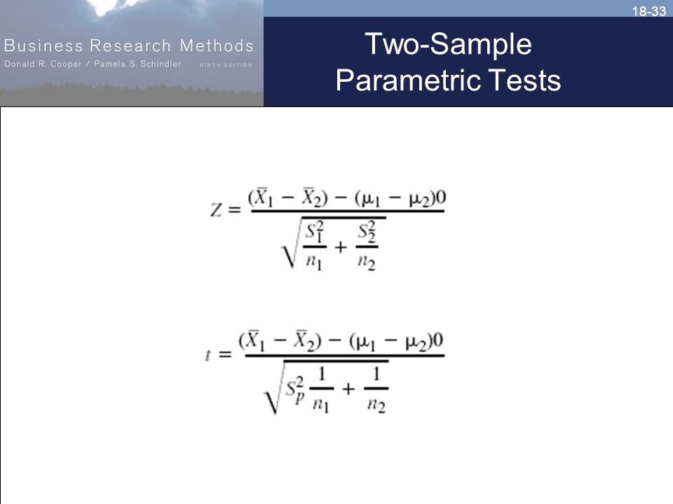 18-33 Two-Sample Parametric Tests