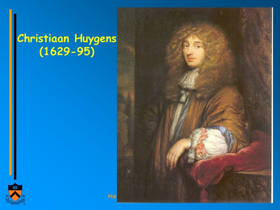 History 291 Fall 2002 Christiaan Huygens (1629-95)