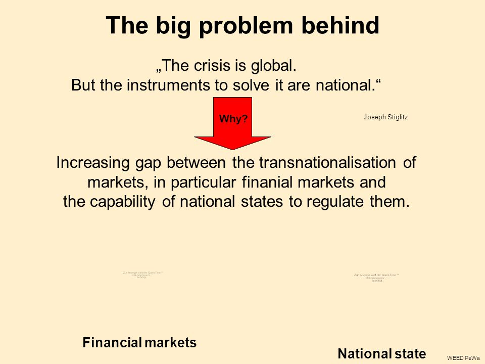 "The big problem behind ""The crisis is global."