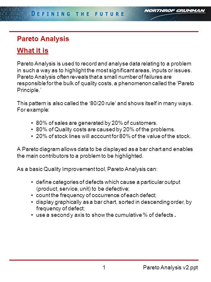 Pareto Analysis v2.ppt2 Pareto Analysis How to use it 1.
