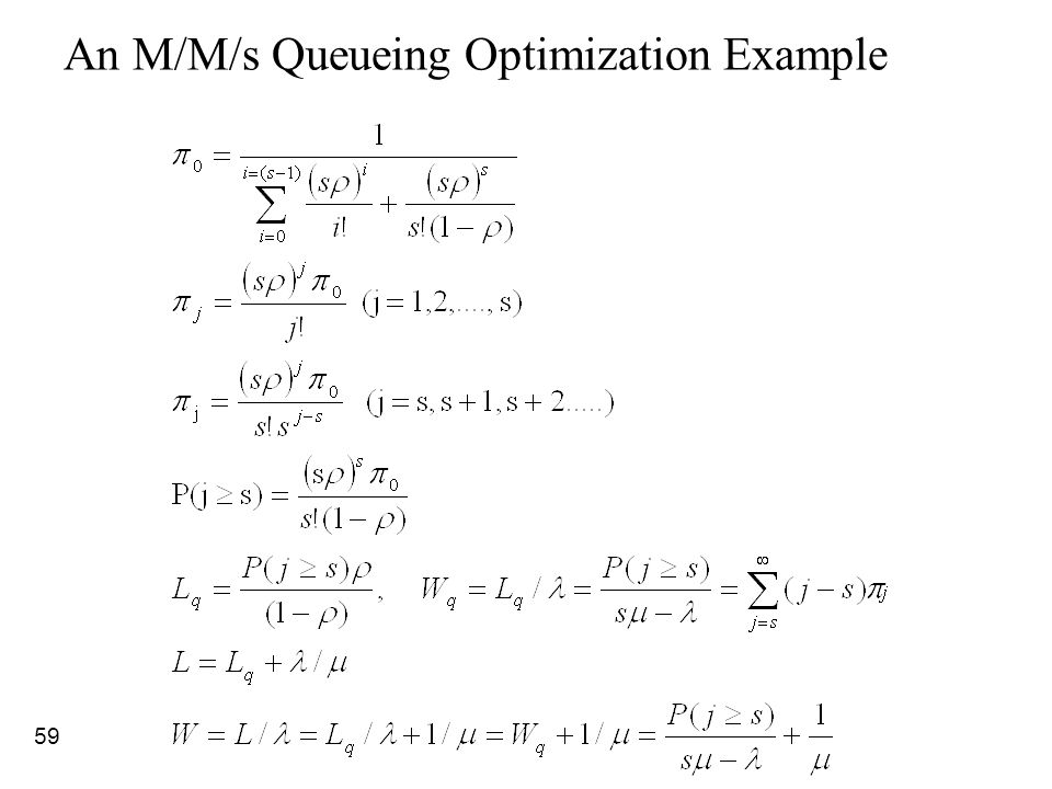 59 An M/M/s Queueing Optimization Example
