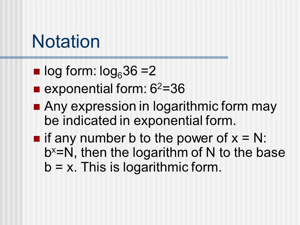 Base 10 In computation the base 10 is used for logarithms.