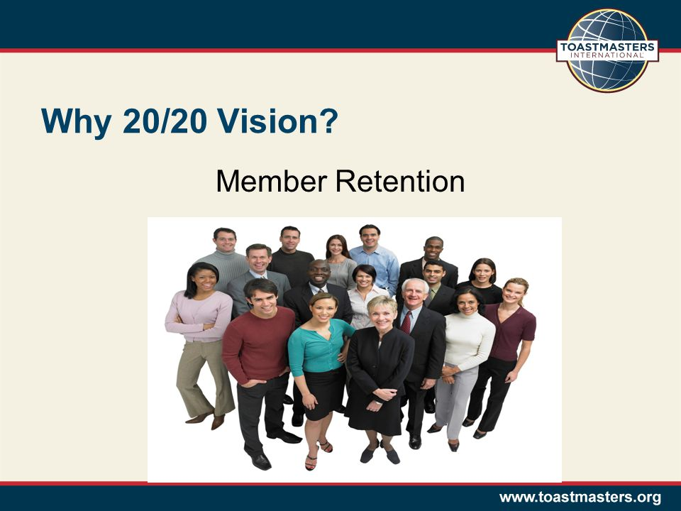 Why 20/20 Vision Member Retention