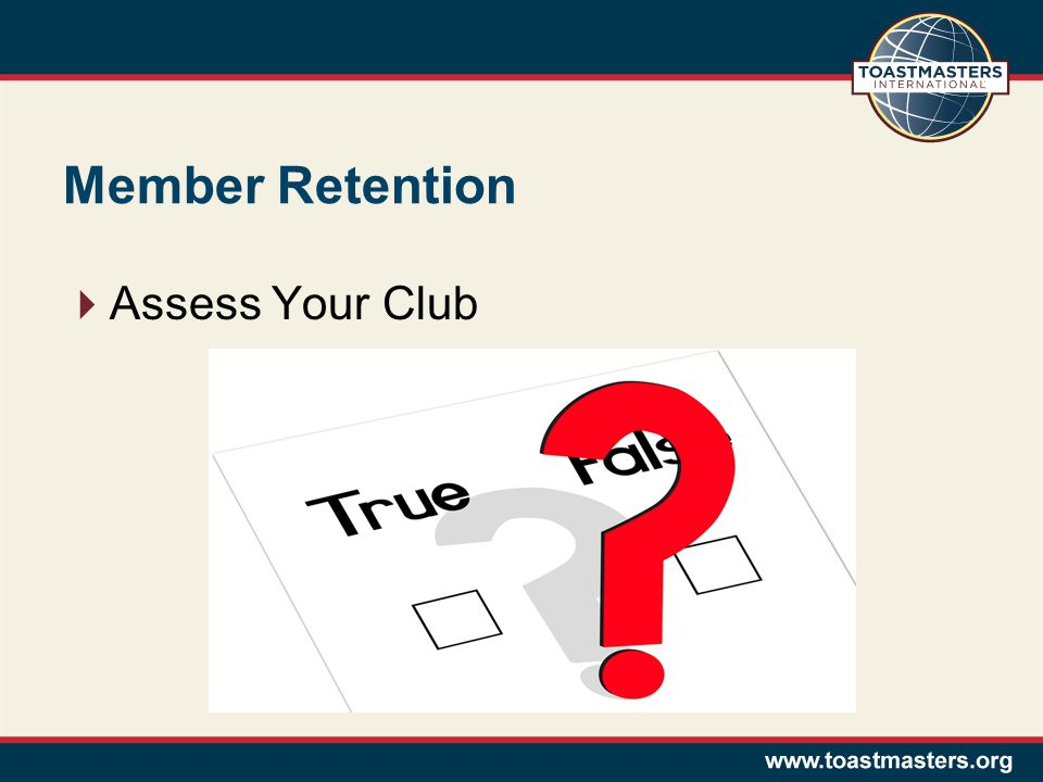 Member Retention  Assess Your Club