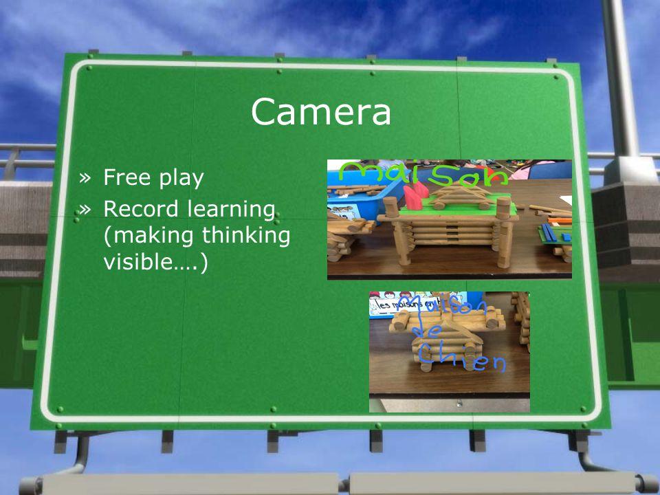 Camera »Free play »Record learning (making thinking visible….)