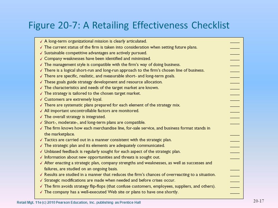 20-17 Retail Mgt. 11e (c) 2010 Pearson Education, Inc.