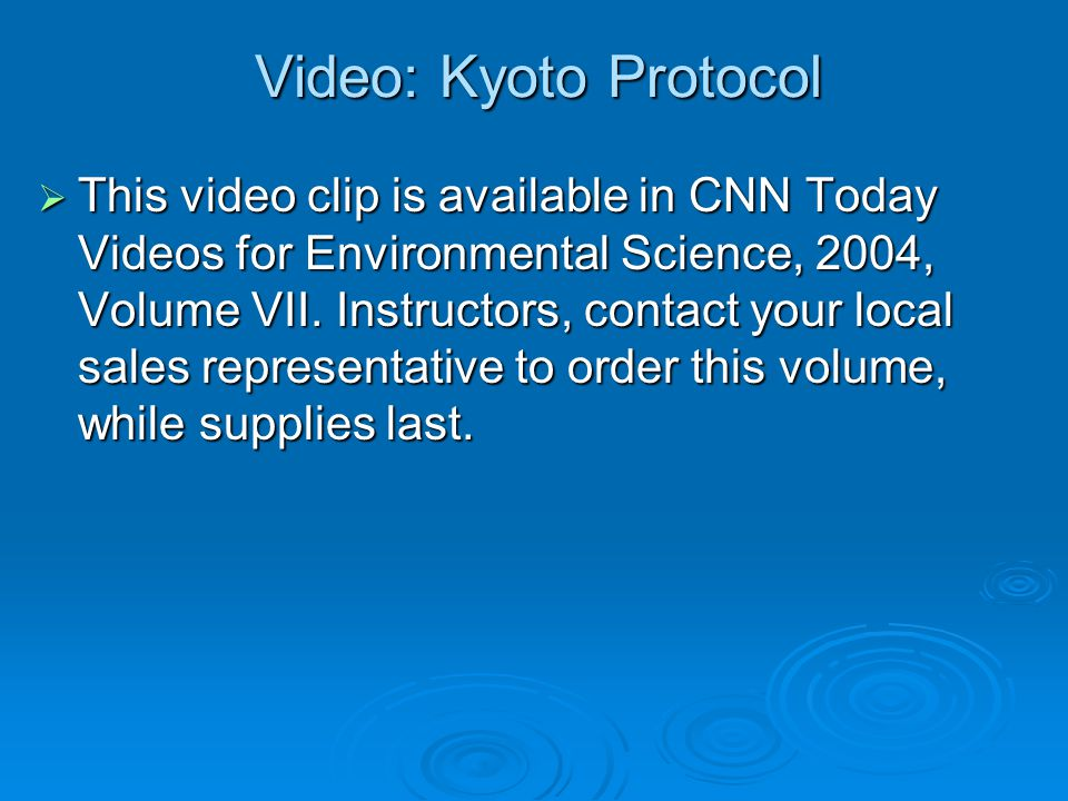 Video: Melting Glaciers  This video clip is available in CNN Today Videos for Environmental Science, 2004, Volume VII.