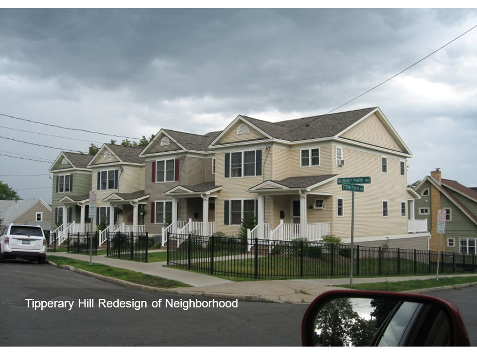 New Development on former derelict site in Tipperary Hill. Supplemented by Syracuse Neighborhood Initiative Funds no longer available. Tipperary Hill