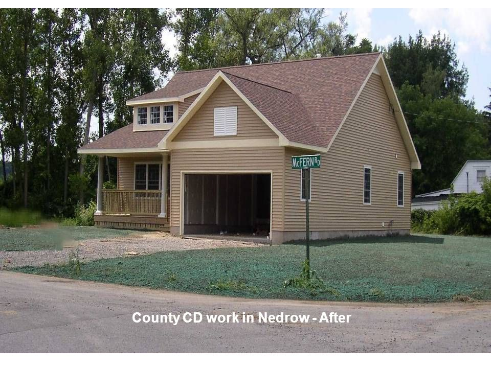 County CD work in Nedrow - After