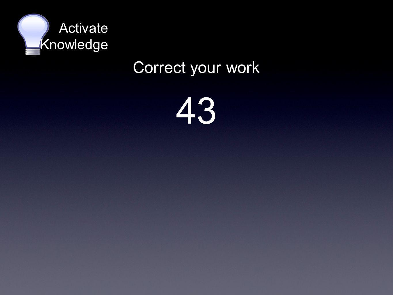 Activate Knowledge Skip count again 43