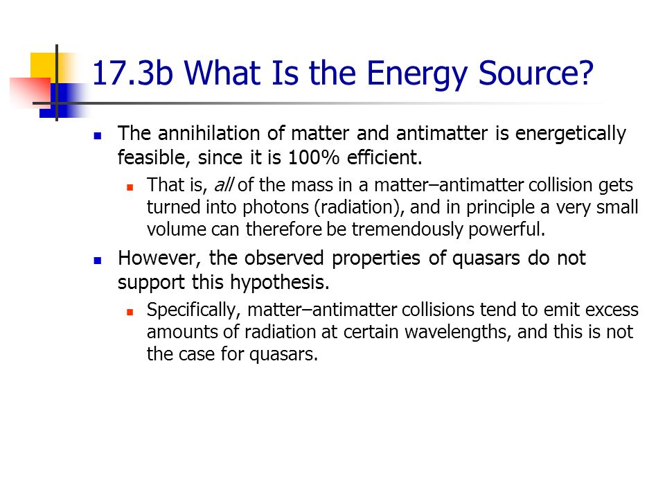 17.3b What Is the Energy Source.