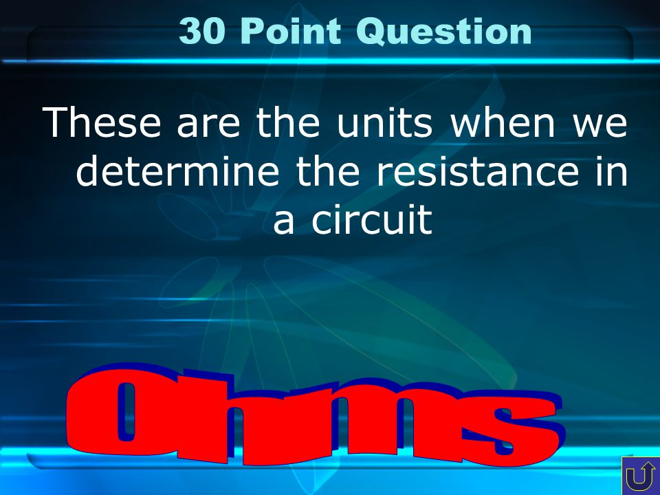 20 Point Question This is the unit when we calculate the power in a circuit