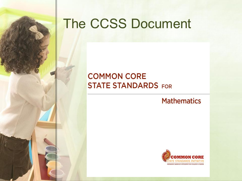The CCSS Document