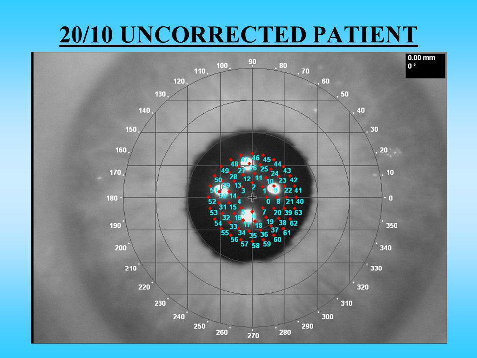 20/10 UNCORRECTED PATIENT