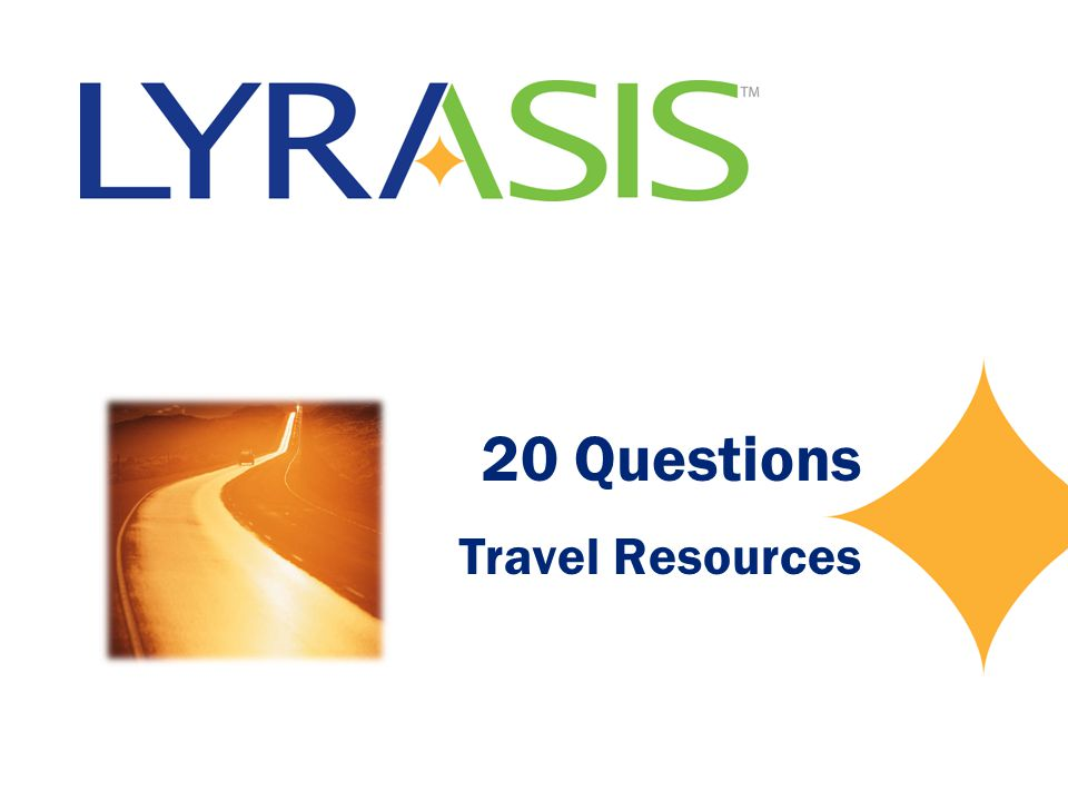 20 Questions Travel Resources