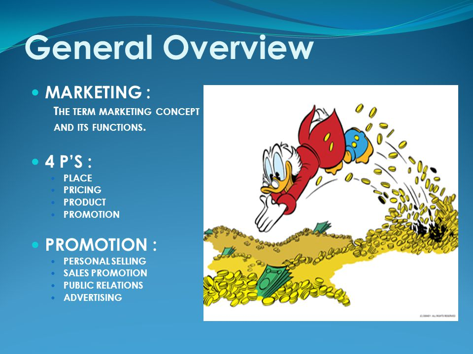 MARKETING Marketing is used to create the customer, to keep the customer and to satisfy the customer.