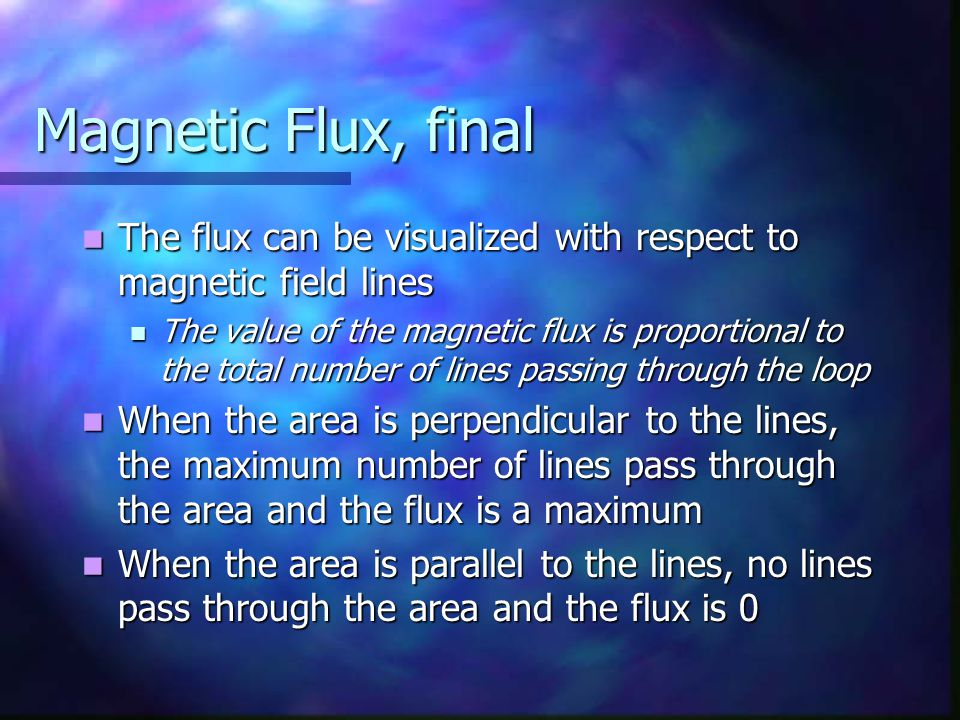Lenz' Law, Bar Example, final The bar is moving toward the left The bar is moving toward the left The magnetic flux through the loop is decreasing with time The magnetic flux through the loop is decreasing with time The induced current must be clockwise to to produce its own flux into the page The induced current must be clockwise to to produce its own flux into the page