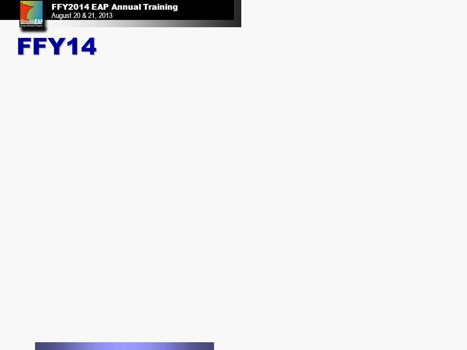FFY2014 EAP Annual Training August 20 & 21, 2013 FFY2014 EAP Annual Training August 20 & 21, 2013 FFY14
