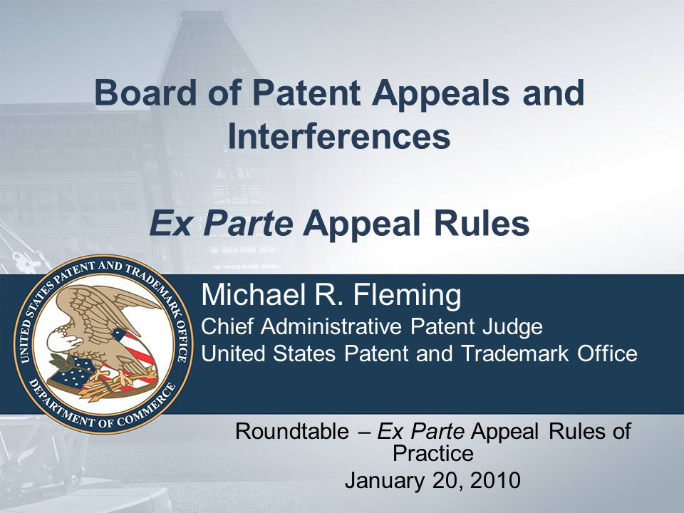1-20-2010 Roundtable - Ex Parte Appeal Rules of Practice 12 Topic 3 No longer dictating appeal strategy of Appellants: (a) Acceptance of arguments and evidence of record presented; (b) Rule changes include defaults, thereby reducing returns (41.37(f), 41.37(g), 41.37(o)(1), 41.37(r), 41.37(s), 41.37(t), and 41.37(u));and (c) Elimination of summary of invention section and clarifying requirements for claim support and drawing analysis section, thereby reducing returns (41.37(r)).