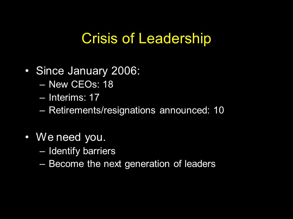 We can tackle our challenges, but only if prepared. Finances Leadership Student success