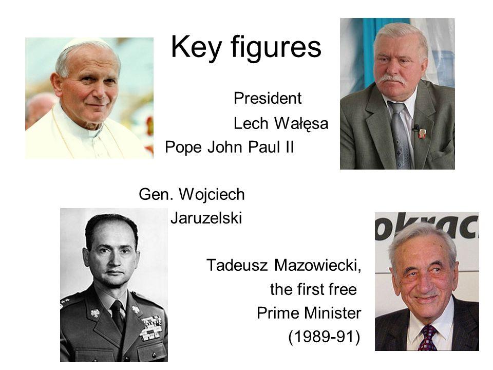 Key figures President Lech Wałęsa Pope John Paul II Gen.