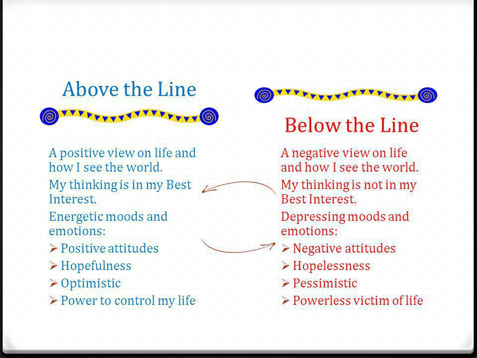 Connection to Real Life Above the lineBelow the line