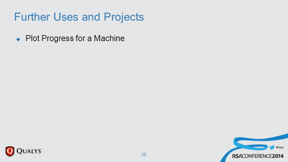 #RSAC Further Uses and Projects  Plot Progress for a Machine 39