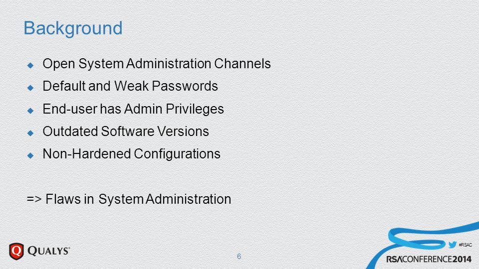 #RSAC CSC3 – Secure Configuration  Automation: Discover Non Standard Setups  Goal: Within 24 hours  Daily Active Scan of the Network -> Splunk  Query Splunk for certain SoftwareMarker  Here: Qualys Desktop Build – which is a custom SW packag that identifies out IT standard builds 37