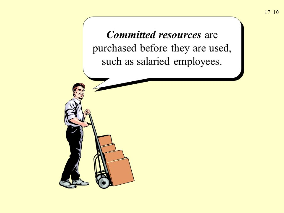 17 -10 Committed resources are purchased before they are used, such as salaried employees.