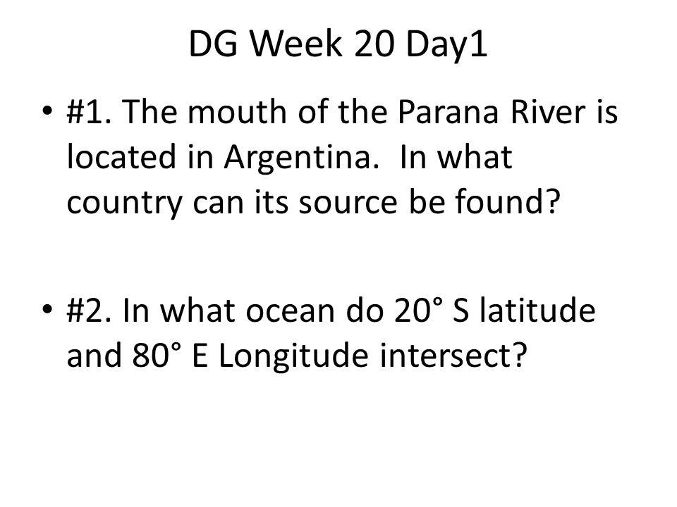 Answer Day 1 #1 Brazil