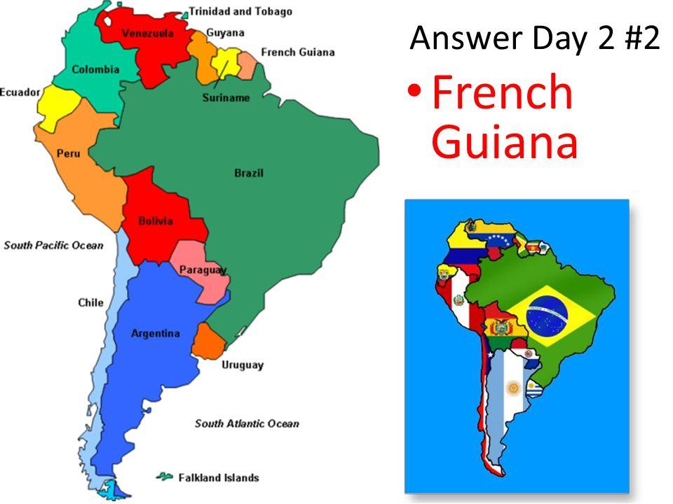 DG Week 20 Day 3 #1.Is it Farther to go Venezuela to Bolivia or Venezuela to Cuba.