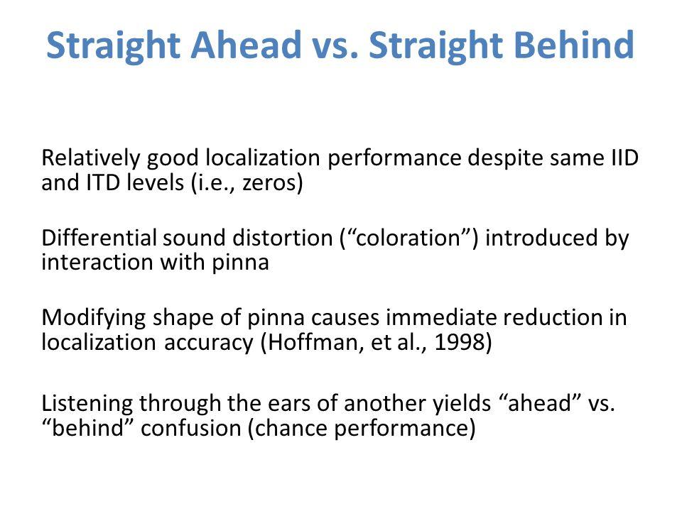 Straight Ahead vs.