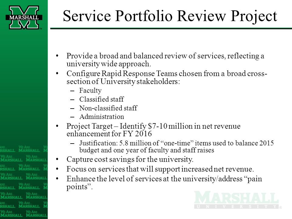 Rapid Response Teams Assisted by the rpkGroup Based on their input, configure teams around opportunity themes For the first phase of this effort: – Six themes, teams – 5/16/14 kick-off, 9/1 draft report date – July 24 mid-point