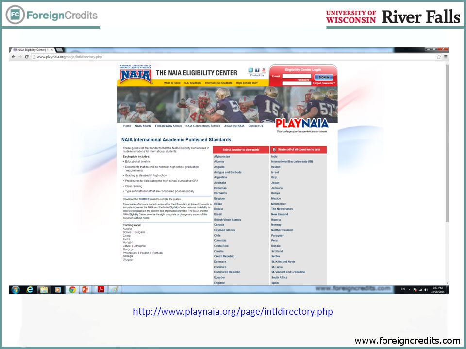 http://www.playnaia.org/page/intldirectory.php