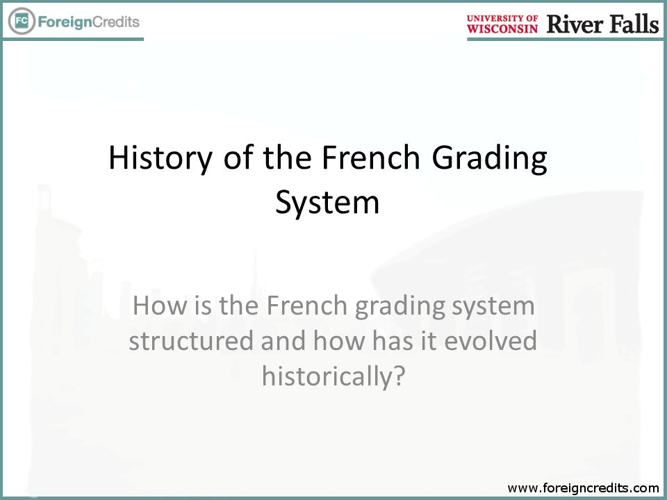 Sample Credential for Practice Please convert the grades listed on the sample transcript to the US grade equivalencies based on the Tunisia French-based grading scale.Tunisia French-based grading scale