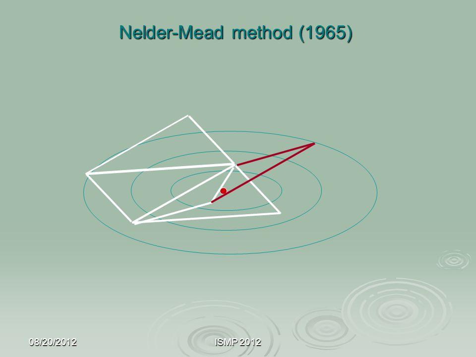 08/20/2012ISMP 2012 Nelder-Mead method (1965)