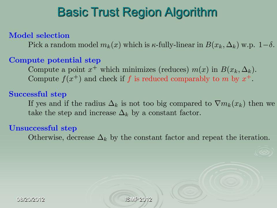 08/20/2012ISMP 2012 Basic Trust Region Algorithm