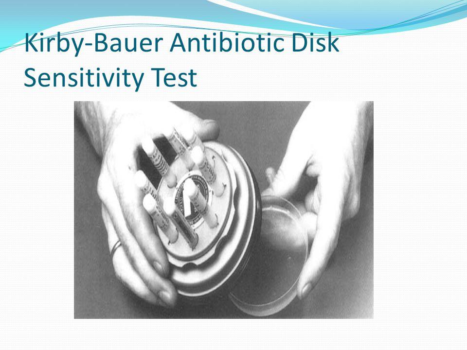 Kirby-Bauer Antibiotic Disk Sensitivity Test
