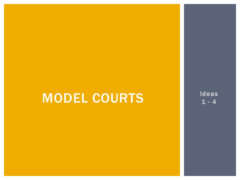 Ideas 1 - 4 MODEL COURTS