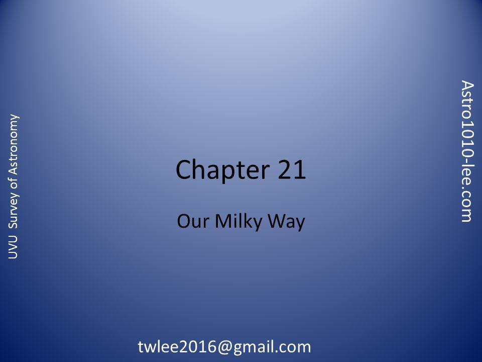 Astro1010-lee.com twlee2016@gmail.com UVU Survey of Astronomy Chapter 21 Our Milky Way
