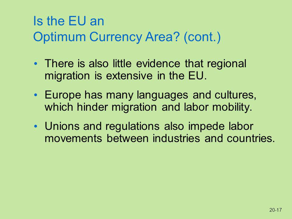 20-17 Is the EU an Optimum Currency Area.