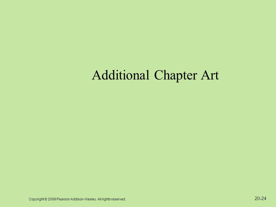 Copyright © 2009 Pearson Addison-Wesley. All rights reserved. 20-24 Additional Chapter Art