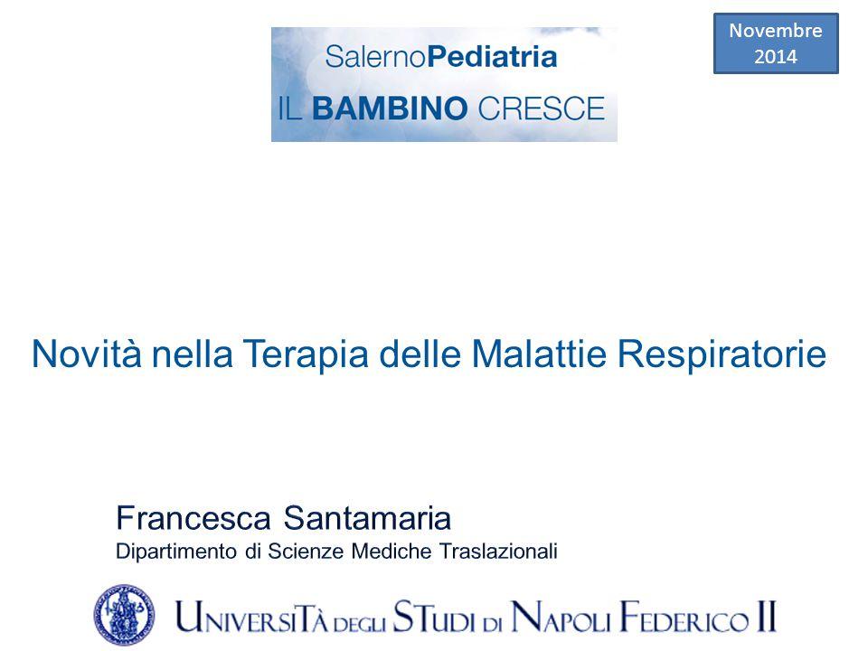 Novità nella Terapia delle Malattie Respiratorie Novembre 2014