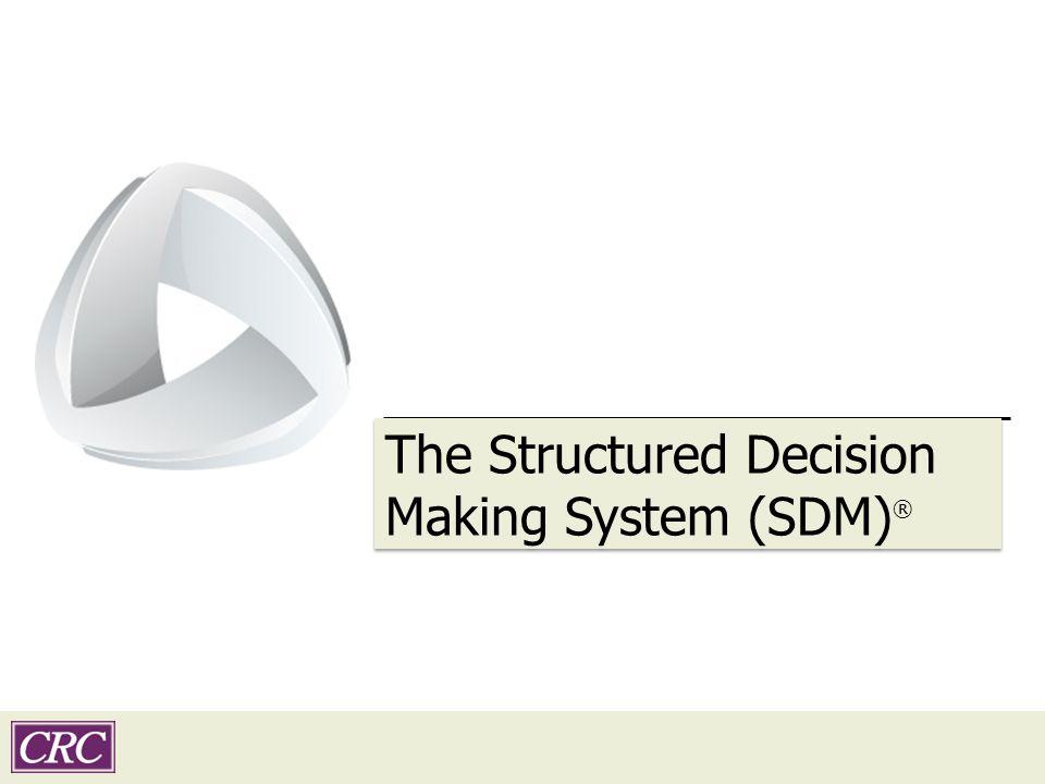 Transition slide subtitle The Structured Decision Making System (SDM) ®