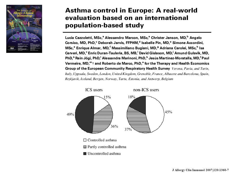 J Allergy Clin Immunol 2007;120:1360-7