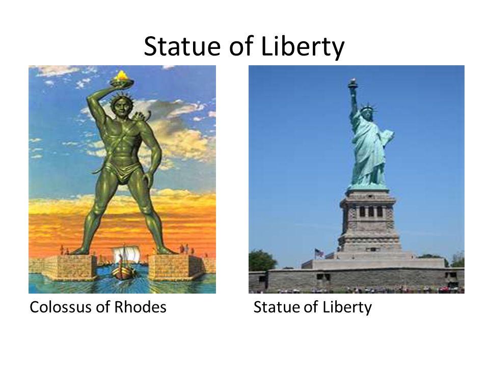 Statue of Liberty Colossus of RhodesStatue of Liberty