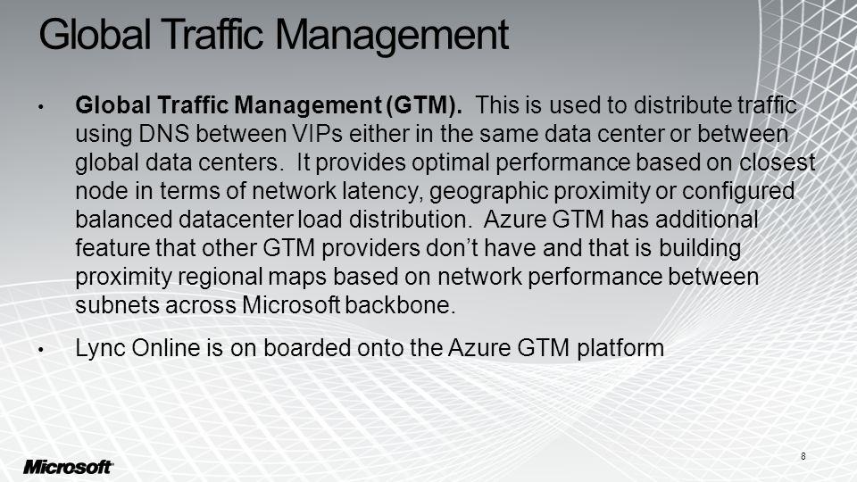 Global Traffic Management Global Traffic Management (GTM).