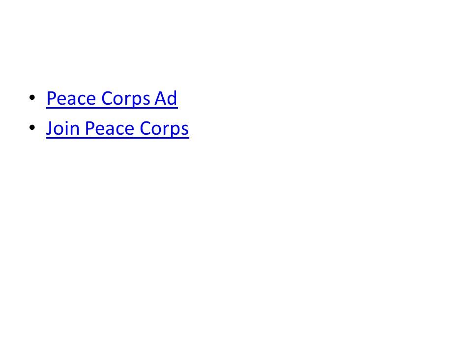 Peace Corps Ad Join Peace Corps